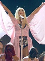 Christina Aguilera on american music awards in los angeles