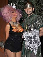 Christina Aguilera halloween party at her home