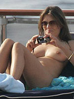 Elizabeth Hurley caught topless on vacation from CelebMatrix