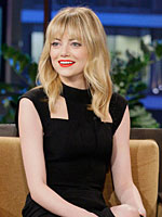 Emma Stone looking beautiful in black dress
