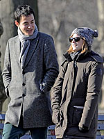 Emma Watson out in central park in new york
