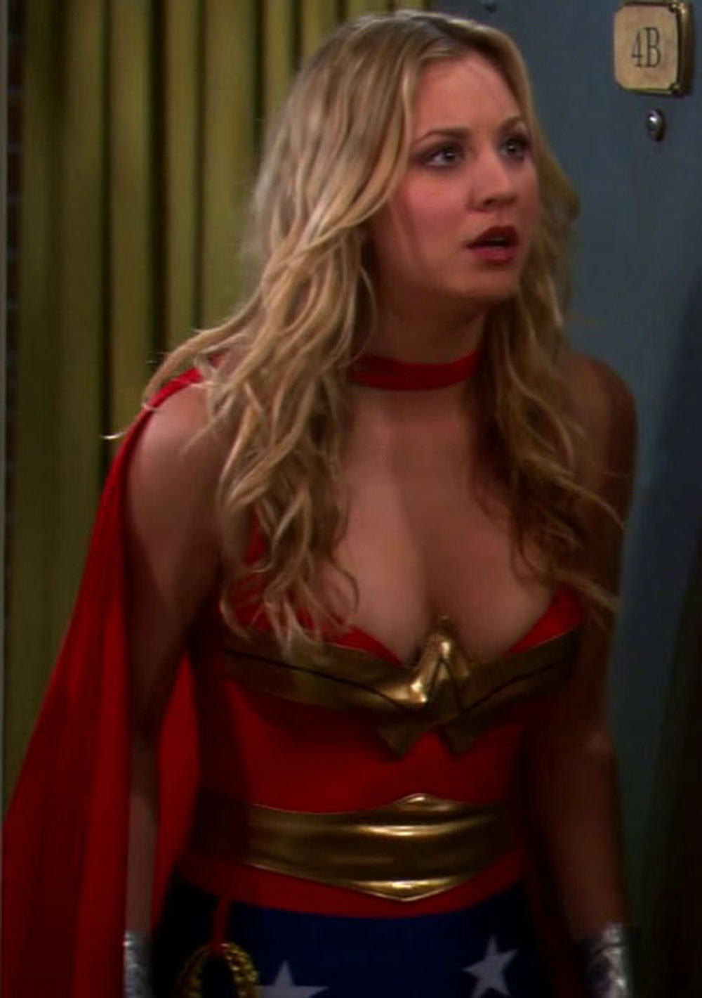 nipples Kaley cuoco