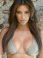 Kim Kardashian looking sexy in little bikini