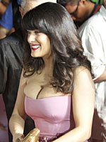 Salma Hayek busts super massive cleavage