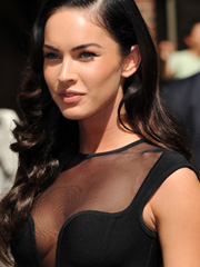 Megan Fox amazing body in see thru dress