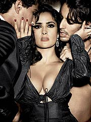 Salma Hayek attractive big boobs in sexy lingerie