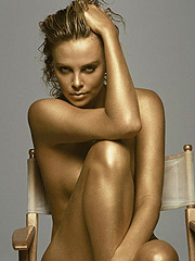 Charlize Theron nipple slip and exposed body