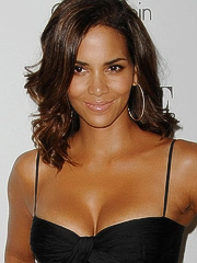 Halle Berry post pregnancy cleavage