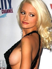 Holly Madison awesome public tits action
