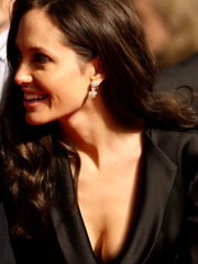 Angelina Jolie cleavage is not like ago