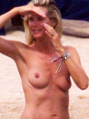 Heidi Klum topless and hot bikini pictures