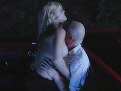 Angela Gasparec outdoor sex in cabriolet