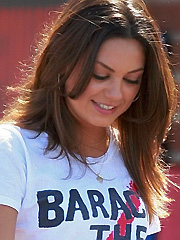 Mila Kunis sexy while getting political