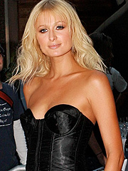 Paris Hilton in her tight leather pants