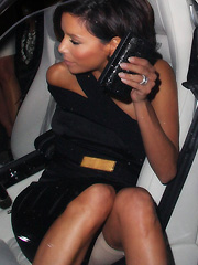 Eva Longoria upskirt girdle captures