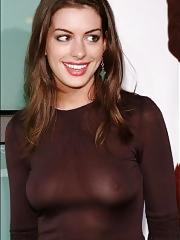Anne Hathaway see through and topless