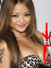 Tila Tequila almost slips a nipple