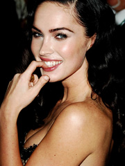 Megan Fox nipple tease in sexy dress