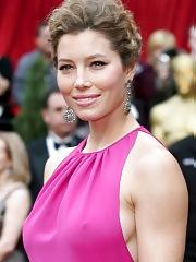 Jessica Biel see thru and bikini shots
