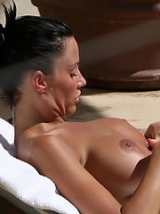 Katie Price sexy upskirts and topless