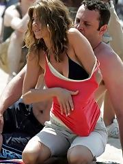 Jennifer Aniston nipple slip and seethru