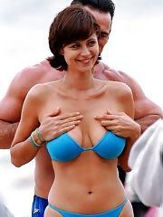 Catherine Bell paparazzi and bikini pics