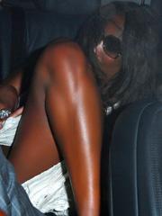 Naomi Campbell public upskirt shots
