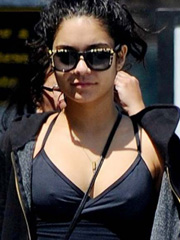 Vanessa Hudgens hard nipples hit the town