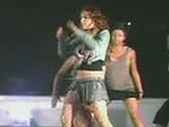Lindsay Lohan dancing in very sexy mini skirt