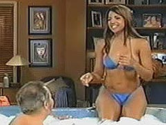 Vida Guerra sexiest body ever in blue bikini