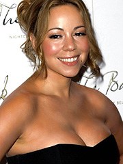 Mariah Carey with sugar mama cleavage