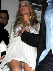 Paris Hilton and her new upskirt moment