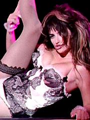 Penelope Cruz looks damn hot in lingerie
