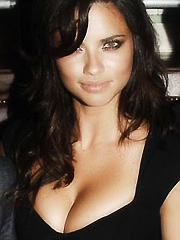 Adriana Lima exposing sweet cleavage