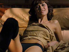 Olga Kurylenko topless seduction in bed