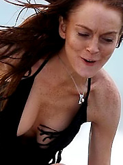 Lindsay Lohan ruins a see through moment