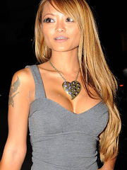 Tila Tequila in a sexy tight dress