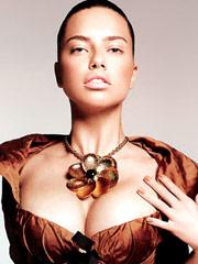 Adriana Lima breasts look really huge