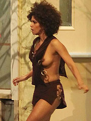 Halle Berry accidental boob slip in public