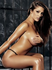 Lucy Pinder topless and nude posing