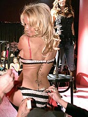 Pamela Anderson shows sexy body in slutty lingerie