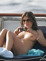 Elizabeth Hurley cleavage and topless