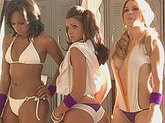Vida Guerra showing some white thong like panties