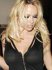 Pamela Anderson nipple making a break