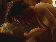 Anna Paquin exposed boobs in sex scenes in the bed