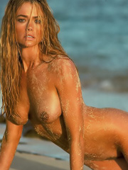 Denise Richards hanging out in bikini