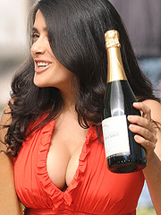 Salma Hayek showing off amazing cleavage
