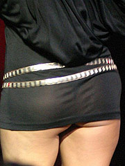 Stacy Ferguson nice upskirt of her ass at concert