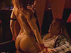 Marisa Tomei in thongs as she gives a guy a strip