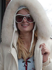 Paris Hilton christmas candids in aspen